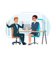 office worker in office at desk vector image vector image