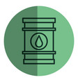 oil barrel isolated icon vector image
