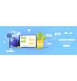online messaging service cartoon website vector image vector image