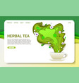 paper cut herbal tea landing page website vector image