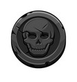 pirate black round mark or coin for game vector image vector image