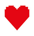 pixel cartoon heart icon image vector image vector image