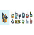 radio device military or police frequency vector image