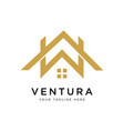 real estate logo design inspiration vector image vector image