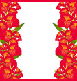 red canna lily border vector image vector image