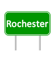 Rochester green road sign vector image vector image