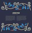 russian tracery card vector image vector image