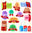 sale and discount price tags ribbon banners vector image vector image