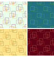 seamless rectangulars outline pattern set vector image vector image