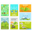 set of banners dipicting environmental issues vector image vector image