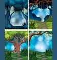 set of rainforest scene vector image vector image