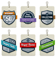 set of retro labels vector image