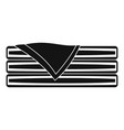 sorted towel icon simple style vector image vector image