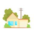 Suburban family house cartoon