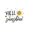 sun and star print design with slogan vector image