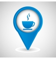 symbol cup coffee hot design vector image