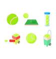 tennis ball icon set cartoon style vector image