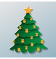 the image of christmas tree on grey background vector image vector image