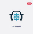 two color car repairing icon from mechanicons vector image