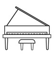 upright piano icon on white background flat vector image vector image