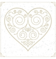 Vintage heart luxury logo sign or symbol vector image