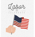 white background with zigzag lines of labor day vector image vector image