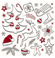 Winter elements for design vector image vector image