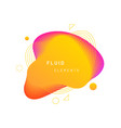 yellow dynamic light on fluid blotch vector image vector image