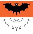 bat symbols vector image