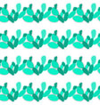 doodle cactus seamless pattern backgroundtree vector image
