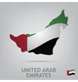united arab emirates vector image