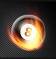 billiard ball realistic billiard ball 8 in vector image