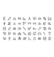 architecture construction tools icons set line vector image vector image