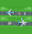 aviation conceptual flat style web banner vector image vector image