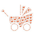 baby carriage icon collage vector image