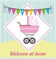 baby shower design over blue background vector image vector image