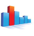 bar chart vector image