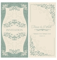 Baroque wedding invitation brown vector image vector image