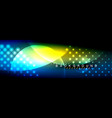 blurred neon glowing circles with flowing vector image vector image