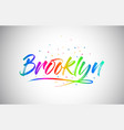 brooklyn creative vetor word text with vector image vector image