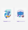 business and finance concept icons financial vector image