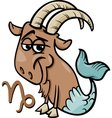 capricorn or the sea goat zodiac sign vector image vector image