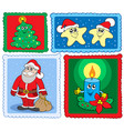 christmas post stamps collection 2 vector image