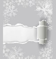 christmas ripped paper background vector image