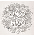 Cinco de mayo cartoon hand drawn doodle