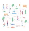city park elements - set of modern flat design vector image vector image