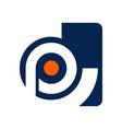 cp letter initial alphabet logo design template vector image