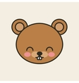 cute bear tender isolated icon vector image