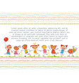 cute kids in the style of childrens drawings vector image vector image