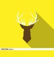 deer horn head logo vector image vector image